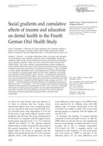 Social gradients and cumulative effects of income and education on dental health in the Fourth German Oral Health Study