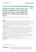 Professional identity, career choices, and working conditions of future and young dentists in Germany