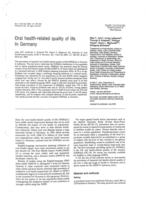 Oral health-related quality of life in Germany