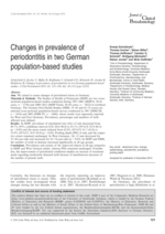 Changes in prevalence of periodontitis in two German population-based studies