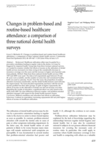Changes in problem-based and routine-based healthcare attendance