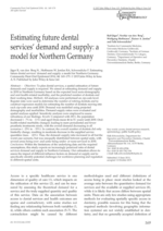 Estimating future dental services' demand and supply