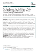 The Fifth German Oral Health Study (Fünfte Deutsche Mundgesundheitsstudie, DMS V)