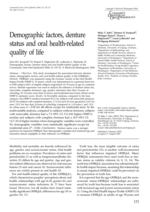 Demographic factors, denture status and oral health-related quality of life