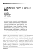 Goals for oral health in Germany 2020