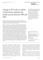 Change in FS-T index in adults in the German national oral health surveys between 1989 and 2005
