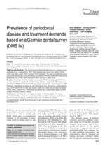 Prevalence of periodontal disease and treatment demands based on a German dental survey (DMS IV)