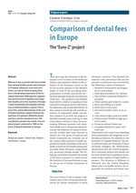 Comparison of dental fees in Europe