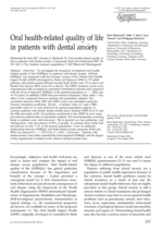Oral health-related quality of life in patients with dental anxiety